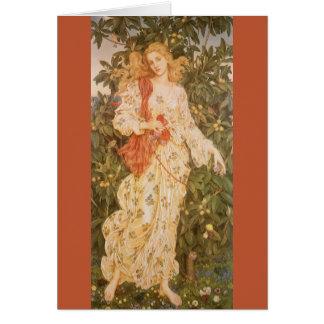 Flora, déesse des fleurs et des fleurs par Morgan Carte De Vœux
