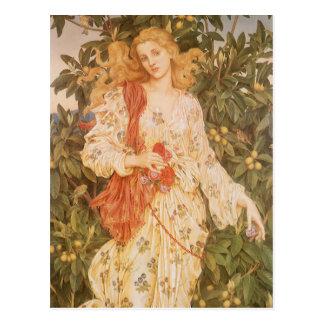 Flora, déesse des fleurs et des fleurs par Morgan Carte Postale