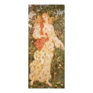 Flora, déesse des fleurs et des fleurs par Morgan Carton D'invitation 10,16 Cm X 23,49 Cm