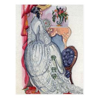 Flora, une jeune mariée victorienne cartes postales