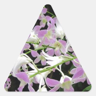 Florabunda lilas et blanc autocollants en triangle