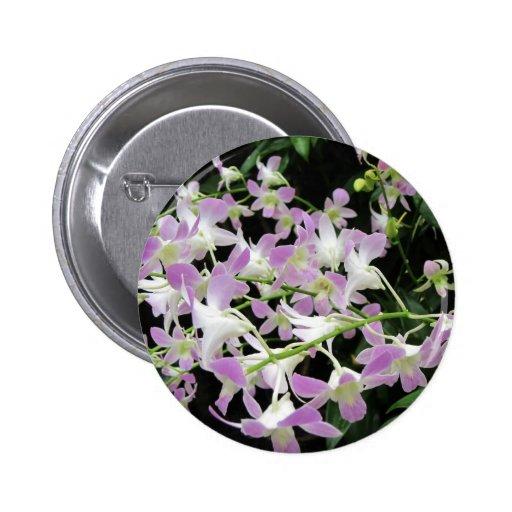 Florabunda lilas et blanc pin's avec agrafe