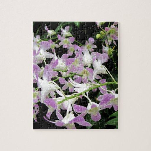 Florabunda lilas et blanc puzzles avec photo