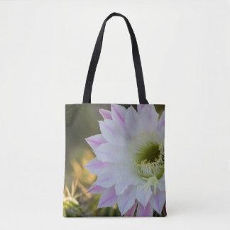 Floraison dans pourpre et blanc tote bag