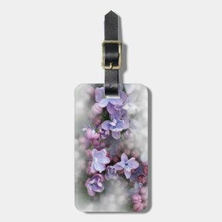 Floraison lilas étiquette à bagage