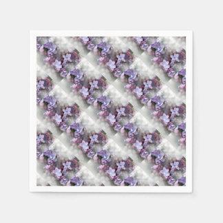 Floraison lilas serviettes jetables