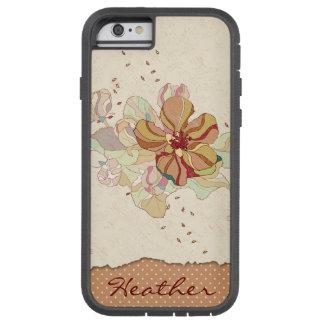 Floral abstrait personnalisé coque tough xtreme iPhone 6