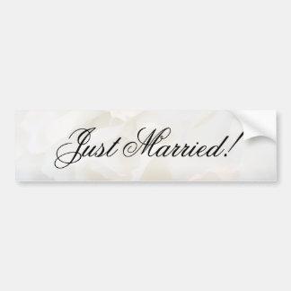 Floral blanc d'oeillet juste marié autocollant pour voiture