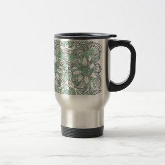 Floral blanc vert tasse à café