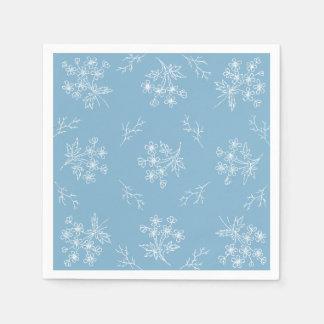 floral bleu fait sur commande de serviettes de serviette jetable