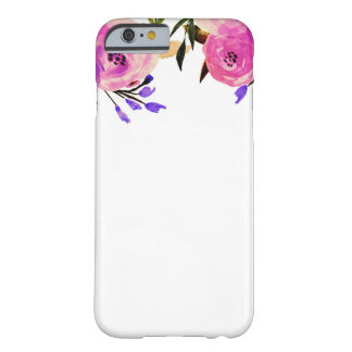Floral chic moderne lumineux pourpre rose coque iPhone 6 barely there