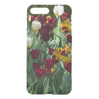 Floral coloré de tulipes marron et jaunes coque iPhone 7 plus