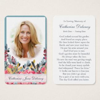 ~ floral commémoratif 1 botanique de carte de