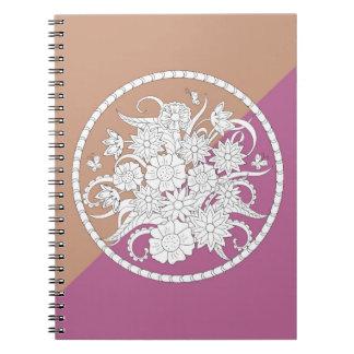floral composition into l'envoyez par on geometric carnets