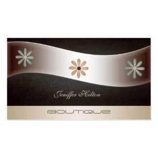 Floral de luxe chic élégant professionnel modèle de carte de visite