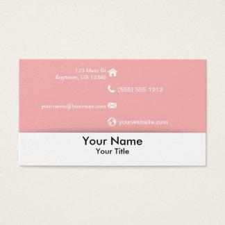Floral de rose et blanc cartes de visite