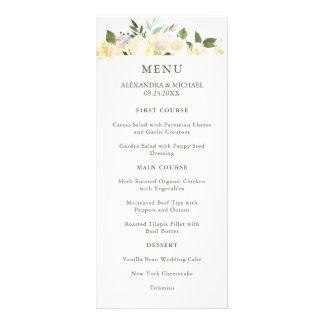 Floral en ivoire avec le menu de mariage