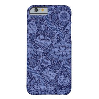 Floral et ruban dans le bleu coque barely there iPhone 6