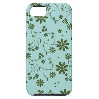 Floral frais et de fantaisie - bleu (2) coque tough iPhone 5