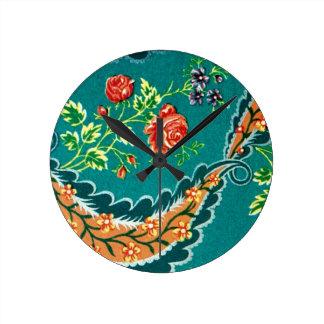 Floral français coloré décoratif vintage pendules murales