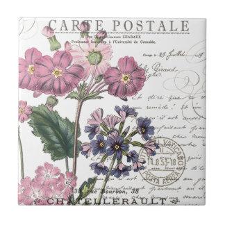 floral français vintage moderne petit carreau carré