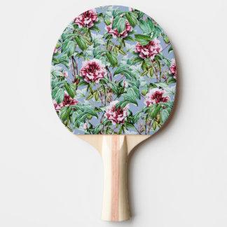 Floral givré raquette de ping pong