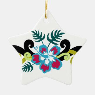 Floral hawaïen ornement étoile en céramique
