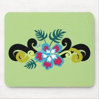 Floral hawaïen tapis de souris