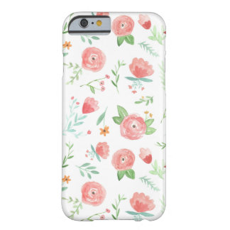 Floral heureux de pêche coque iPhone 6 barely there