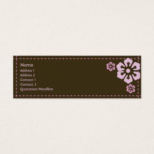 Floral - maigre mini carte de visite