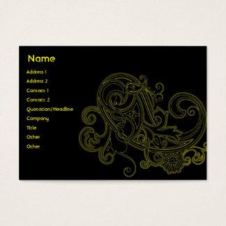 Floral noir - potelé cartes de visite