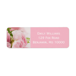 Floral rose étiquette d'adresse retour