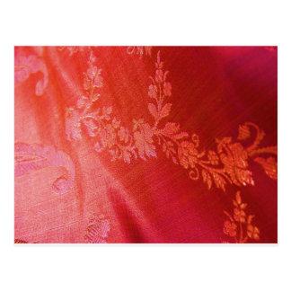 Floral rouge cartes postales