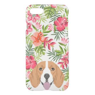 Floral tropical hawaïen de caisse d'espace libre coque iPhone 7