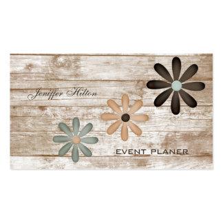 Floral vintage chic élégant professionnel carte de visite standard