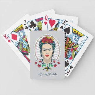 Floral vintage de Frida Kahlo   Jeux De Cartes
