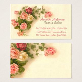 Floral vintage élégant cartes de visite