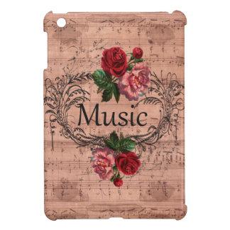 Floral vintage pour l'amour de la musique coques iPad mini