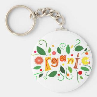Floramentina - art organique porte-clé rond