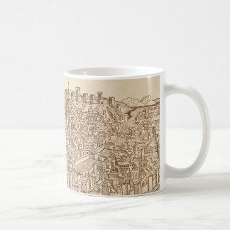Florence, gravure sur bois médiévale mug