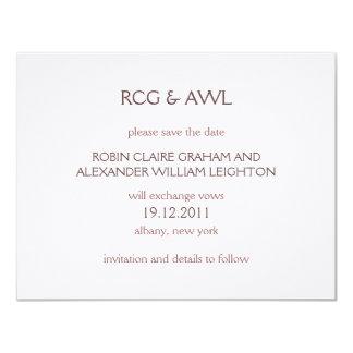 Florentin : : Taupe rose : : Réservez la date Carton D'invitation 10,79 Cm X 13,97 Cm
