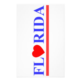 Florida coeur rouge papier à lettre customisable