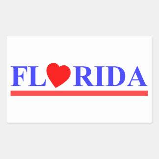 Florida coeur rouge sticker rectangulaire