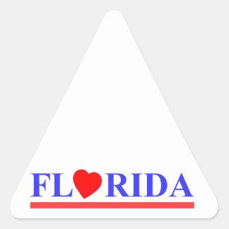 Florida coeur rouge sticker triangulaire