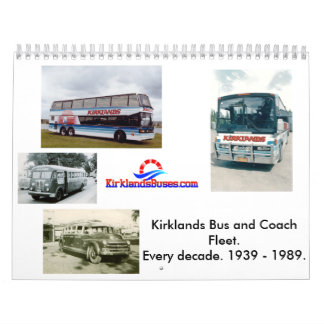 Flotte d'autobus et d'entraîneur de Kirklands Calendriers