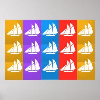 Flotte de BATEAU À VOILE Posters