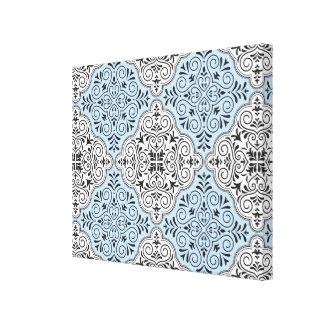 Flourish bleu de motif de rococos toiles