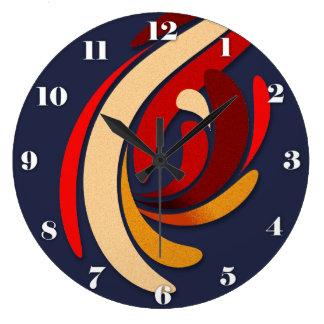 Flourish classique moderne chaud grande horloge ronde