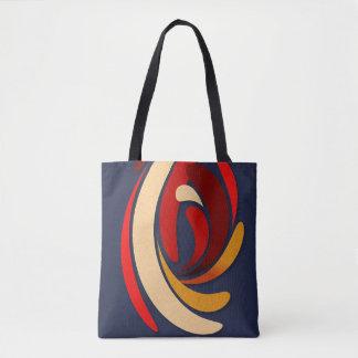 Flourish classique moderne chaud tote bag