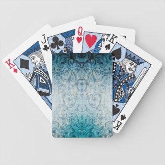 Flourish élégant fané jeu de poker